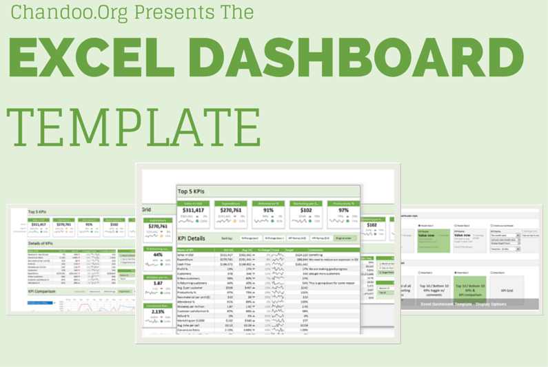 Free Excel Dashboard Templates - Program dashboard template excel